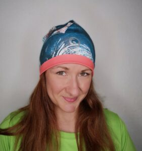Riviera czapka biegowa termoaktywna kolorowa dwustronna