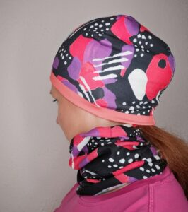 Dwustronna czapka kolorowa termoaktywna do biegania