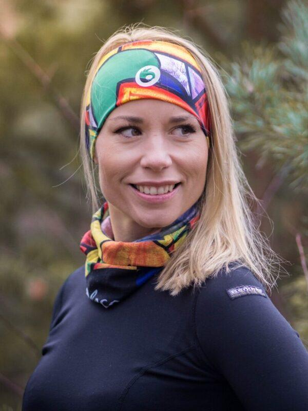kolorowa opaska do biegania termoaktywna dla kobiet pikasa