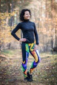 Kieszonka w długich leginsach do biegania dla kobiet