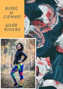 długie leginsy kolorowe do biegania riviera