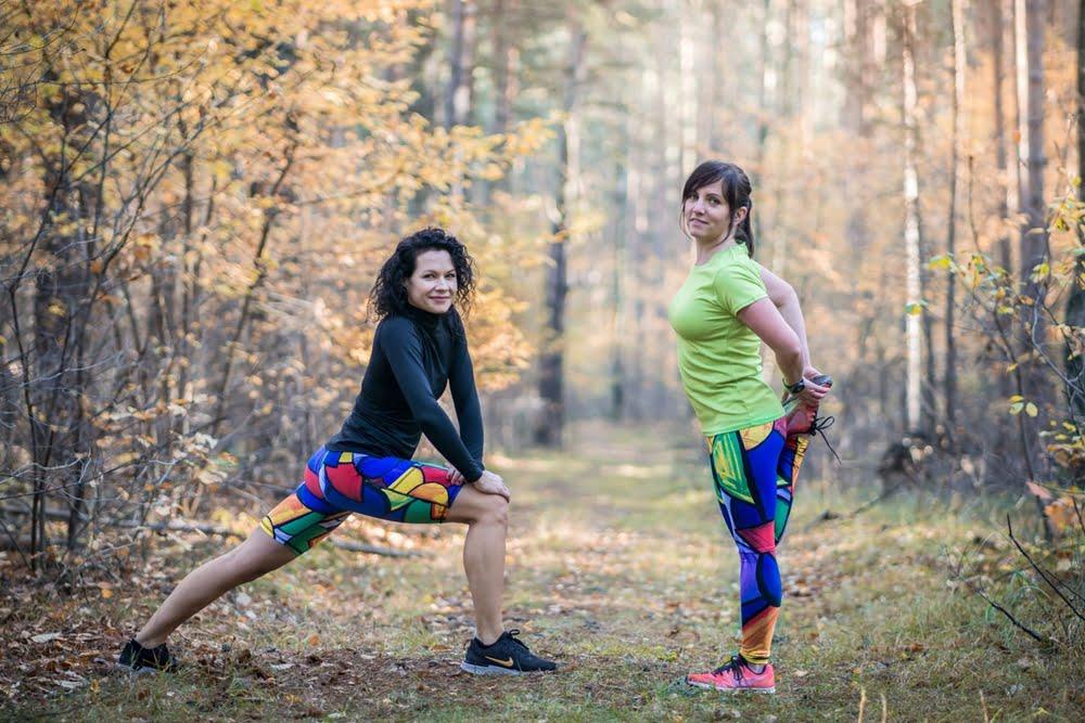 Dla pozytywnych aktywnych kobiet które lubią kolorowe leginsy do biegania długie