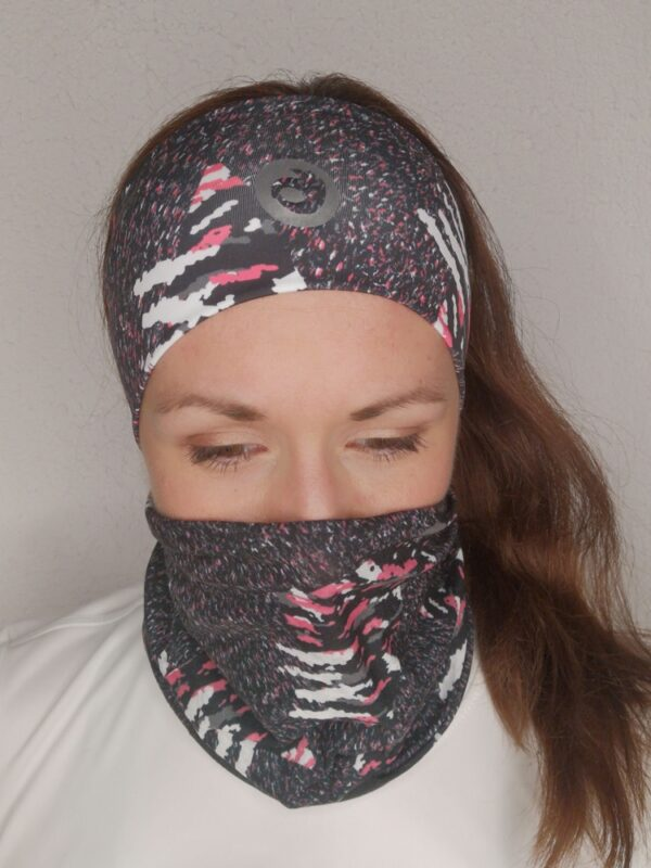 kolorowa opaska termoaktywna do biegania dla kobiet
