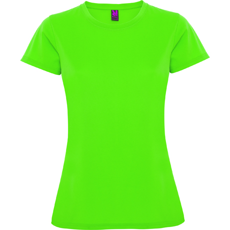 techniczna damska limonkowa koszulka do biegania treningowa