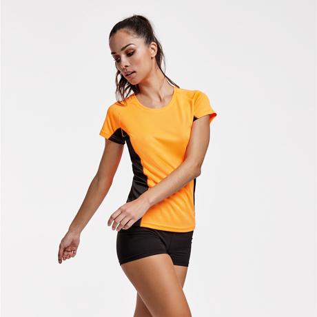 techniczna koszulka treningowa do biegania orange
