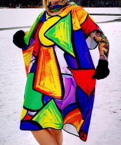 kolorowe poncho do morsowania