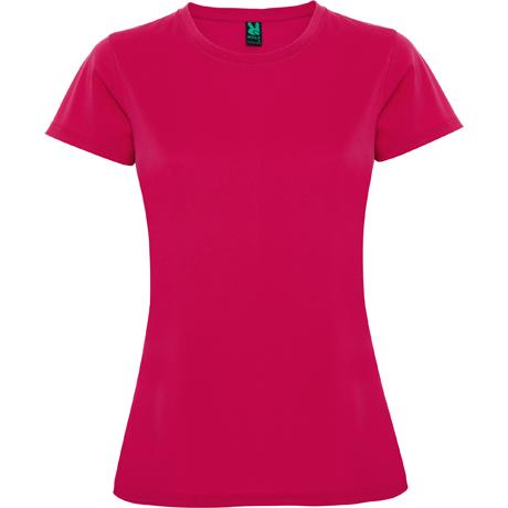 techniczna koszulka treningowa do biegania damska fuksja