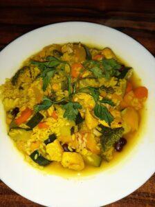 kurczak curry po treningu jedzenie