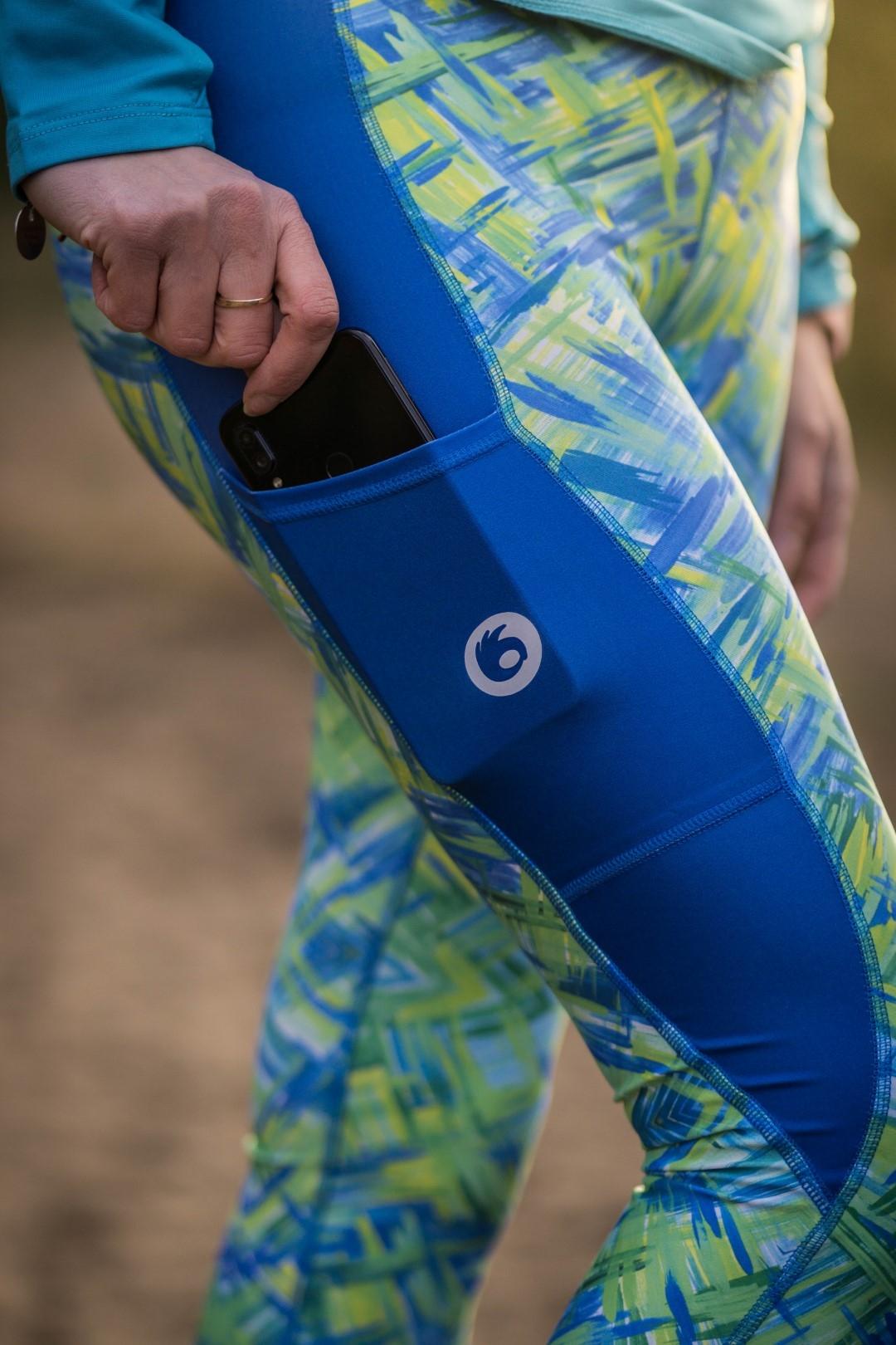 kobiece kolorowe legginsy do biegania mohitos