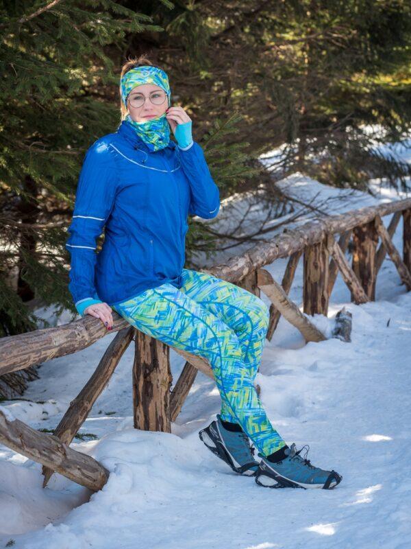 kolorowe legginsy do biegania dla aktywnych kobiet mohitos