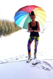 kolorowe legginsy dla kobiet do biegania