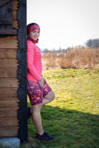 kolorowe legginsy do biegania dla kobiet feniksy