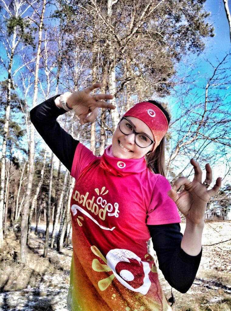 kolorowa opaska termoaktywna do bieganie dla kobiet