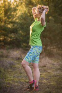 kobiece kolorowe legginsy do biegania krótkie mohitos