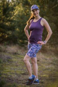 kolorowe kobiece legginsy do biegania krótkie