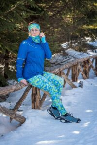 kolorowe legginsy do biegania dla kobiet