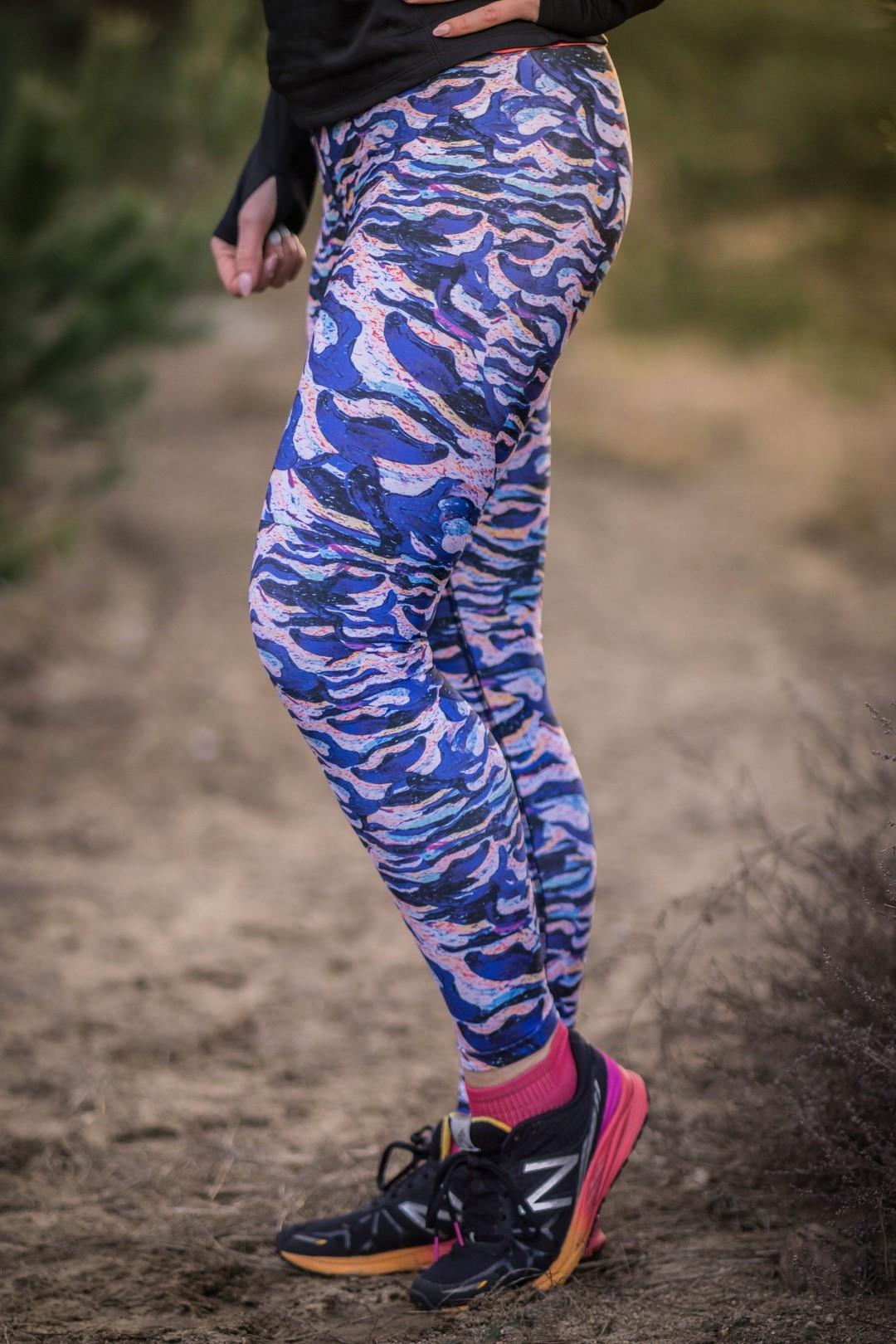 rowe kobiece legginsy do biegania
