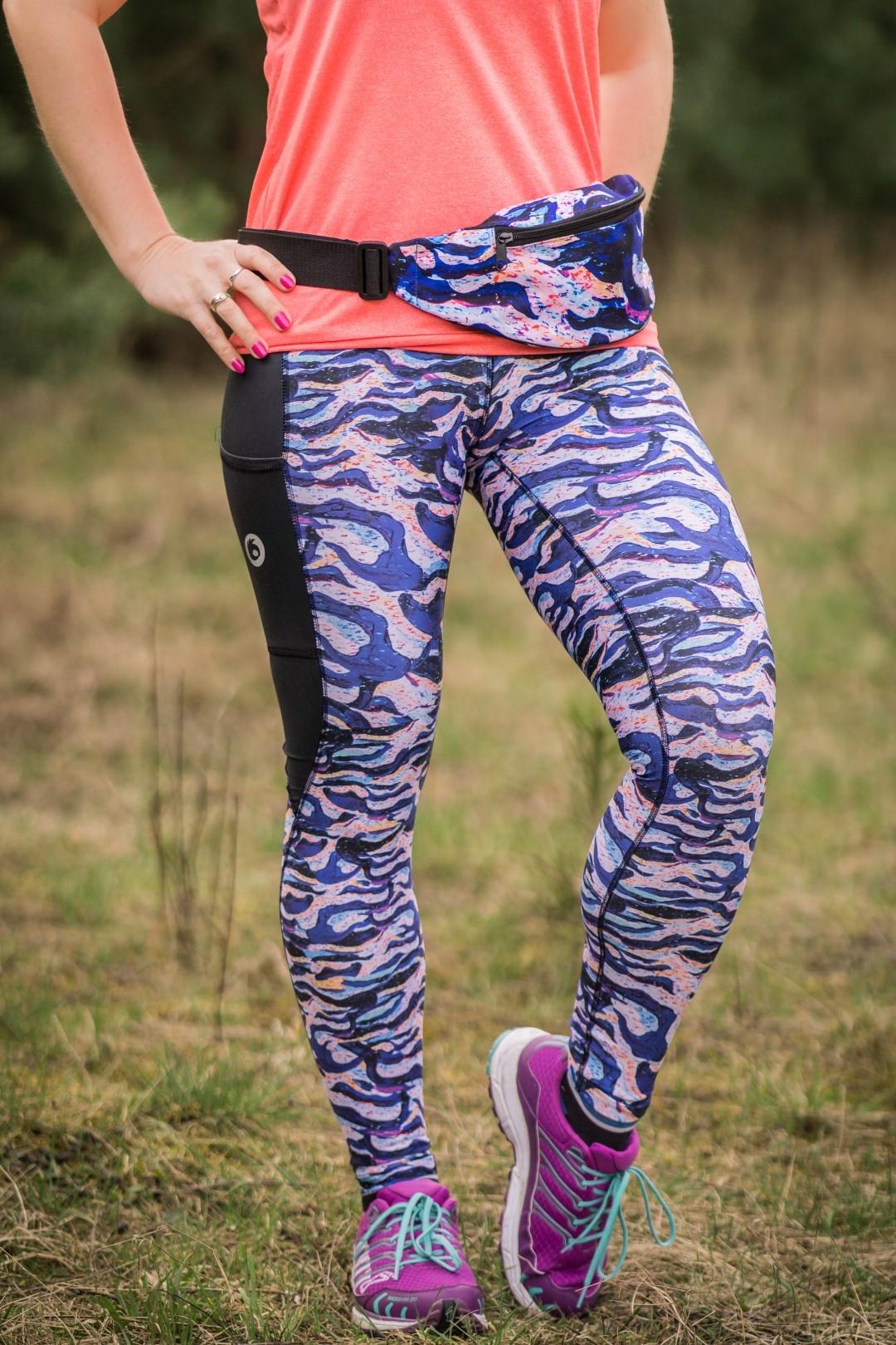 kolorowe legginsy dla kobiet do biegania marina