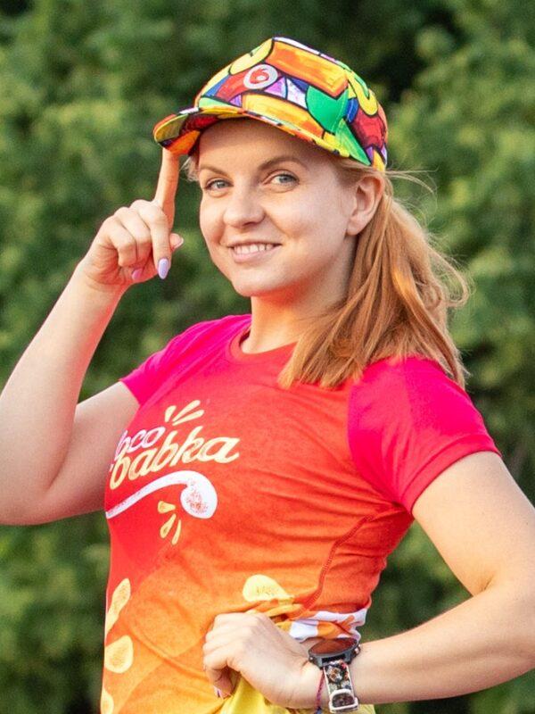 kolorowa czapka z daszkiem damska