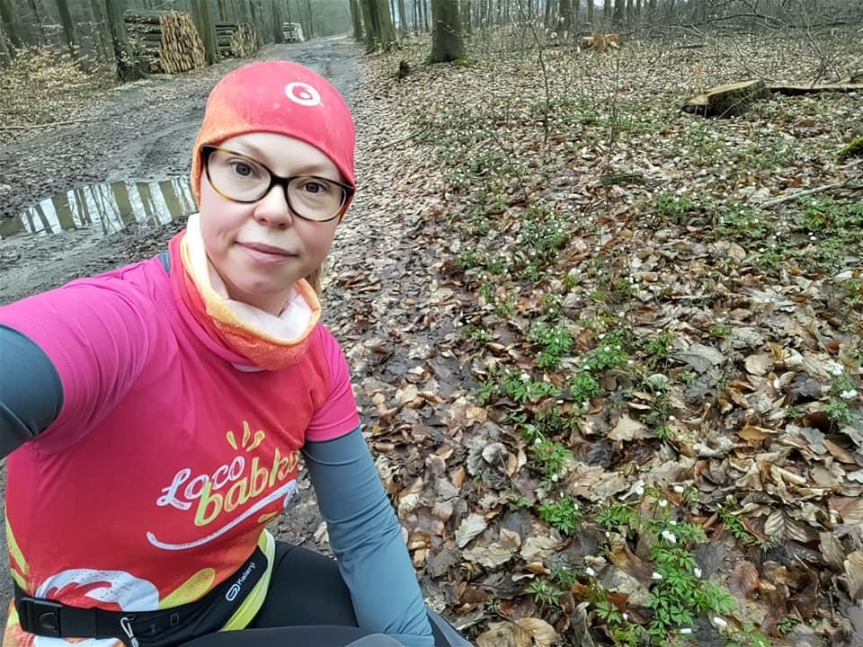 Kolorowa koszulka damska do biegania Loco Babka