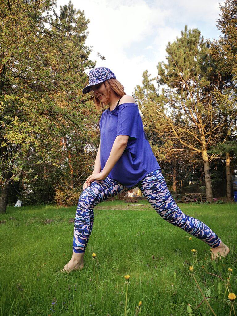 kolorowe legginsy damskie do biegania marina
