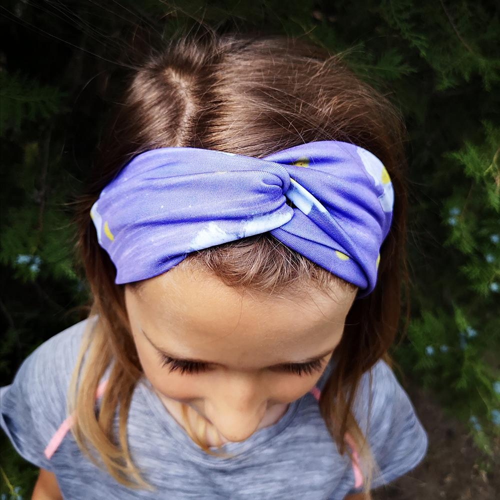 fioletowa dziewczęca opaska do włosów
