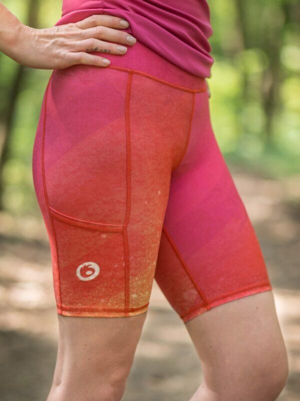 różowe legginsy sportowe damskie do biegania